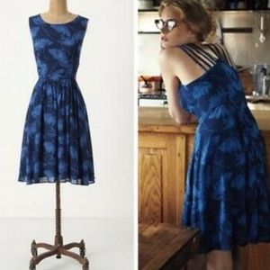 EUC Anthropologie Blue Floral dress by Maple